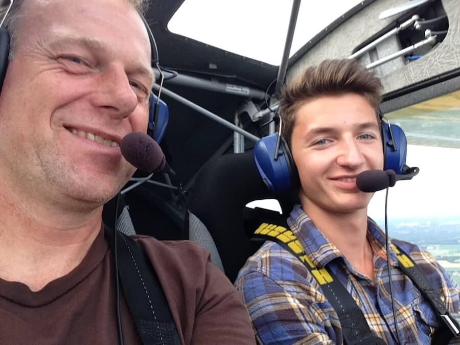Flugstunde bei der Pilotenausbildung